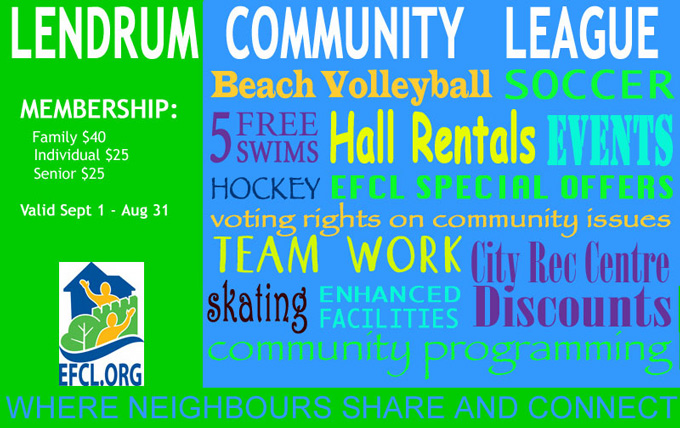 benefits of joining the Lendrum Community League